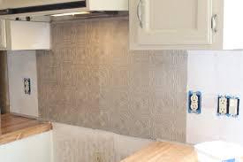 Faux Metal Kitchen Backsplash, Paintable Wallpaper