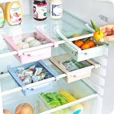 freezer organizer plastic slide fridge freezer space saver organizer storage rack holder tool kitchen refrigerator fresh
