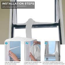 Vegena Fensterabdichtung Für Mobile Klimageräte Klimaanlage Abluft Wäschetrockner Trockner Bautrockner Ablufttrockner Luftentfeuchter Hot