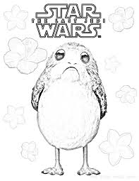 flowers for porg star wars porgs coloring page on image to save or print