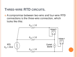 rtds thermistors three wire rtd circuits