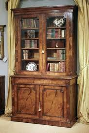 antique oak bookcase with glass doors small bookcases bookshelf mission single door