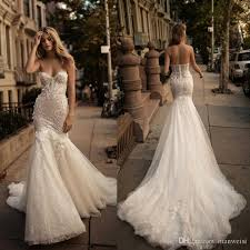 berta 2017 mermaid backless wedding dresses crystal 3d floral