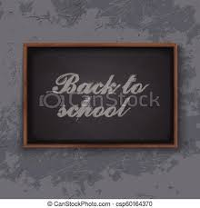 School Chalkboard Background Back To School Chalkboard Background Vector Illustration