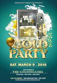 Make Free Flyers To Print Gold Party Flyer Print Templates Flyers To Make This Pin