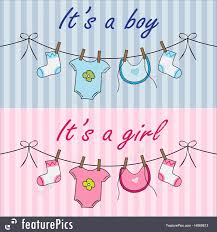 Illustration Of It Is A Boy And It Is A Girl Announcement