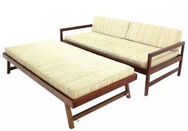 twin size mid century modern daybed with pop up trundle mid century modern bed frame