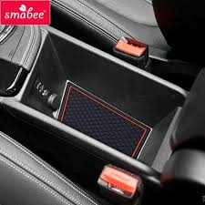 smabee door groove mat for bmw x1 2016 2018 gate slot mat interior door pad cup non slip mats red white black