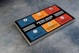 13 Social Media Business Card Templates Psd Word Ai