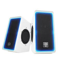 sonaverse o2i multimedia computer speaker system with glowing led volume control