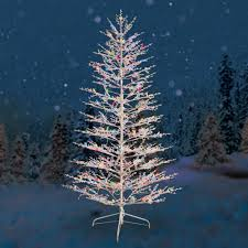 Outdoor Lighted Stick Trees Ge Pre Lit 7 White Winterberry Artificial Christmas Tree