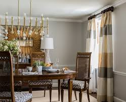 Furniture:Contemporary Colonial Dining Room With Oval Brown Dining Table  And Brown Dining Chair Under