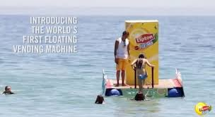 Lipton Tea Vending Machine Best Lipton Ice Tea Placed A Floating Vending Machine In The Ocean