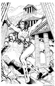 dc comics coloring pages kevin sharpe wonder woman inks by throughout