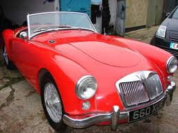 introduction to mga cars 1500 model small lights front and rear optional wire wheels