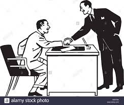 Business Transaction - Retro Clipart Illustration Stock Vector Image & Art  - Alamy