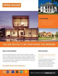 Free Luxurious House Real Estate Flyer Template Word Psd