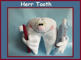 Für die schule, für die kita oder private zwecke. Hakelanleitung Herr Tooth Zahn Gehakeltes Amigurumi