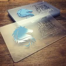 Translucent Plastic Business Cards Translucent Plastic Business Card With Chrome Silver Ink