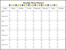 Editable Weekly Meal Planner Template Excel Menu Planning New