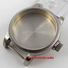 <b>46mm</b> stainless steel <b>corgeut</b> silver watch case for eta 6497 6498 ...