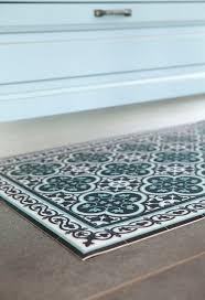 tiles pattern decorative pvc vinyl mat color dark brown and azure 171 pvc rug kitchen mat vanill co