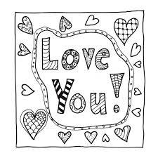 Kleurplaat Love