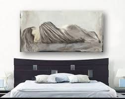 oversized bedroom wall art greige netural extra large bedroom canvas print figurative sexy woman pastels white taupe artwork living room art on large wall art for bedroom with oversized wall art etsy