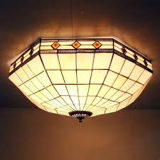 srained glass tiffany ceiling light