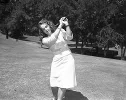 Polly Riley of Fort Worth, competing in Texas Women's Open golf tournament  | UTA Libraries Digital Gallery