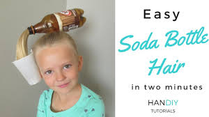 Easy Soda Bottle Hair Tutorial Crazy Hair Day Youtube