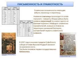 Урок истории по теме Культура Древней Руси й класс Назад