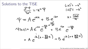 free particles and the schrodinger equation
