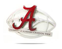 >university of alabama aluminum football 3d vintage metal artwork   university of alabama aluminum football 3d vintage metal artwork