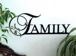 family word home decor metal wall art sayings sign decorating likable wal