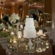 Engagement Cake Table Decorations Glass Floral Cake Table Top
