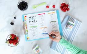 Printable Checklist For Babys First Foods Tips For
