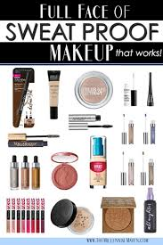 the best sweat proof makeup s for a long wearing full face look