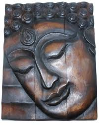 buddha wood wall art with regard to most up to date hand carved wooden thai buddha
