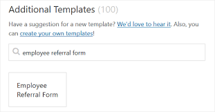Referral Form Templates How To Create An Employee Referral Form In Wordpress