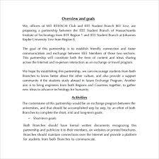 sample partnership proposal template
