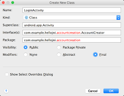 A Database Template Contains Pre Built Create A Java Class Or Type Android Developers