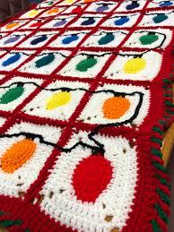Crochet Christmas Lights Blanket Christmas Lights Throw Blanket From Kats Krafts