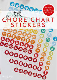 Chore Sticker Chart Printable Printable Chore Chart Stickers The Homes I Have Made