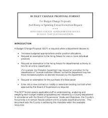 Department Budget Proposal Template
