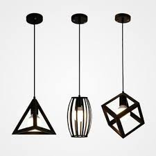 vintage industrial metal cage wire pendant light chandelier edison hanging lamp