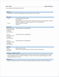 12 Unique Resume Empty Format Resume Sample Template And Format