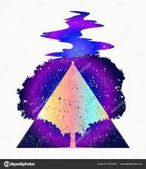 Kouzelný Strom života Tattoo Art Symbol života A Smrti Stock