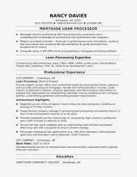Mortgage Loan Processor Resume Sample Monster Resume
