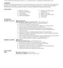 Medical Billing Resume Medical Billing Resume Template Medical